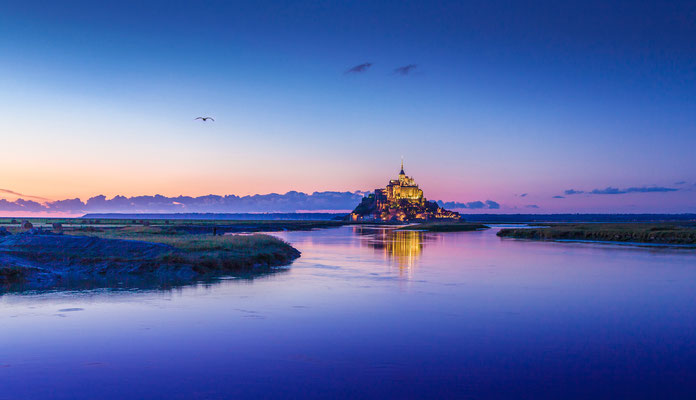Beautiful view of the famous Mont Saint-Michel historic tidal island in Normandy, northern France - Copyright canadastock