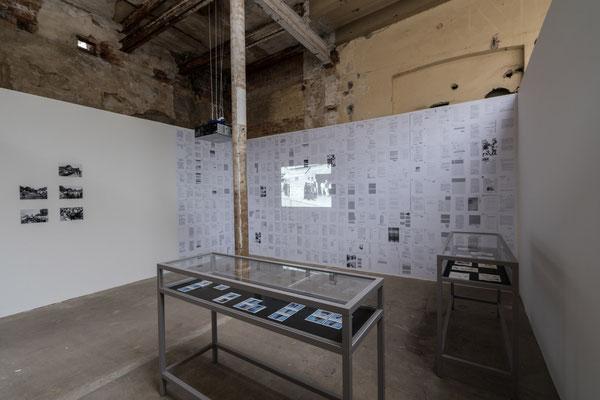 Installation beim 8. Festival für Fotografie /stop Leipzig, Spinnerei, 2018. Foto: dotgain
