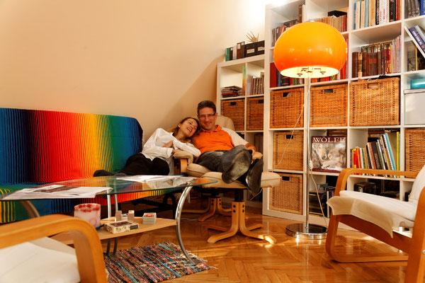 Lorenzo Molinari und Edina Mályi, Personalberater und Rezeptionistin, Budapest, seit 1991. | Lorenzo Molinari HR-tanácsadó és Mályi Edina recepciós, Budapest, 1991-óta.