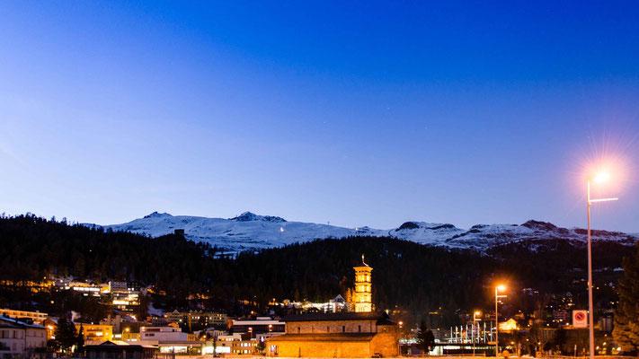 St. Moritz nach dem Sonnenuntergang