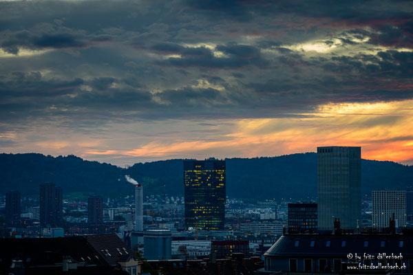 Sonnenuntergang, Zürich Limmattal
