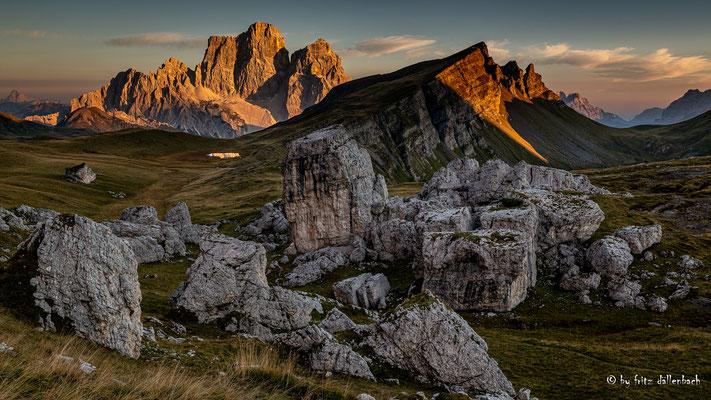 kurz vor Sonnenuntergang, Dolomiten