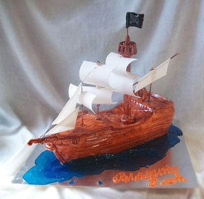 """Торт """"Пиратский корабль"""", вес 3 кг"""
