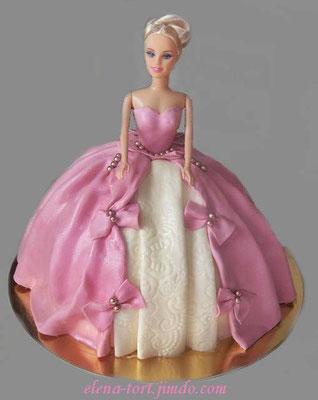 "Торт ""Кукла в розовом"""