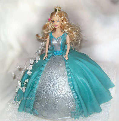"Торт ""Принцесса в голубом"""