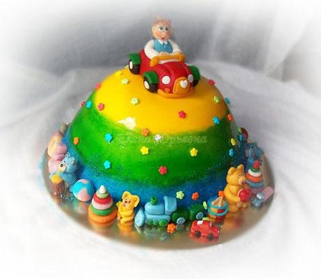 Торт на 1 год, вес 2,8 кг