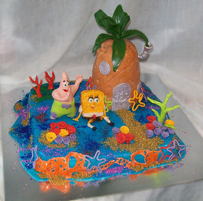 """Торт """"Губка Боб и Патрик"""", вес 3 кг"""