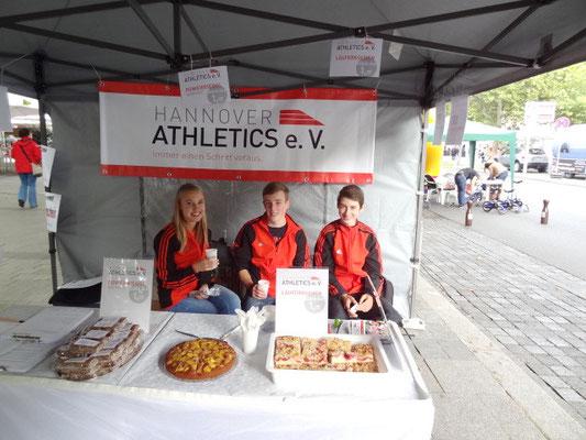 Ronja, Jakob und Yannick haben unseren Verein vormittags präsentiert