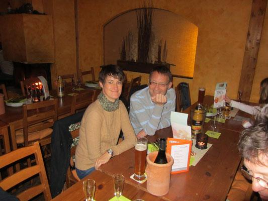 Waren schon früh in der Finca: Steffi und Achim