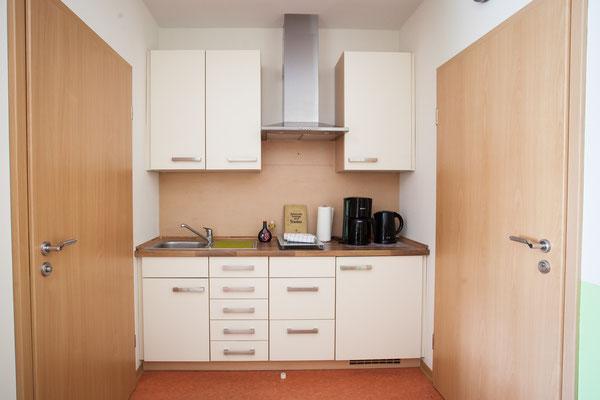 Küchenzeile in unseren Gästezimmern