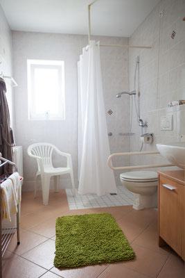 Badezimmer im Gästehaus Weinbau Böcher
