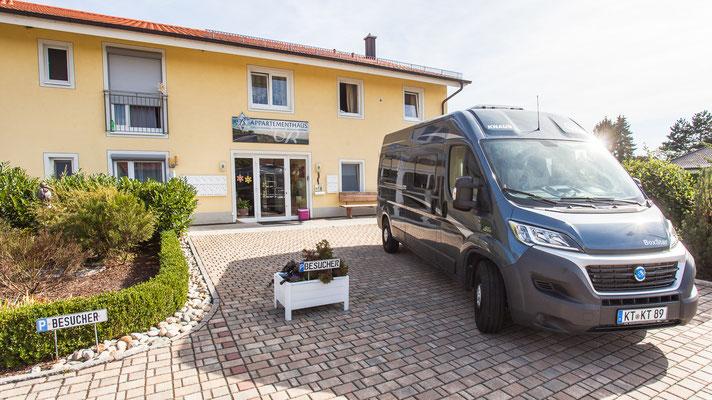 Wohnmobile sind herzlich willkommen bei Weinbau Böcher in Abtswind
