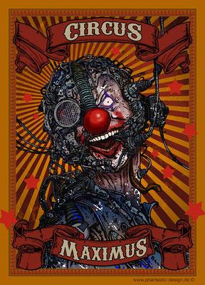 science fiction - digitaldruck auf leinwand - poster - title: circus maximus - ink & digital art