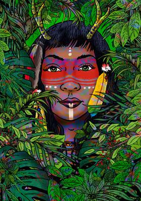 fantasy art - digitaldruck auf leinwand - poster - title: ció - ink & digital art