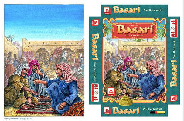 game design - title: basari - ink & watercolours