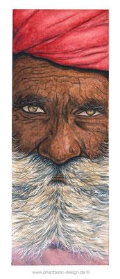 illustration - india face - watercolour - free artwork