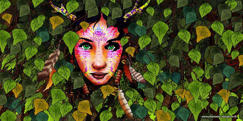 fantasy art - digitaldruck auf leinwand - poster -title: the beauty - ink & digital art - free artwork