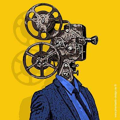 illustration- title: movies - ink & digital art