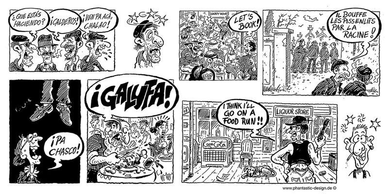 cartoon, llustration for slang books - ink