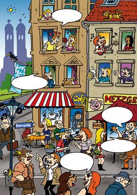 cartoon - bookcover - ink & digital art