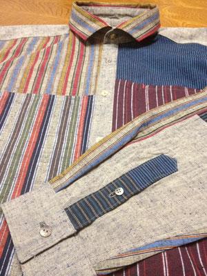 遠州綿紬で仕立てたDM.Saeオリジナルシャツ