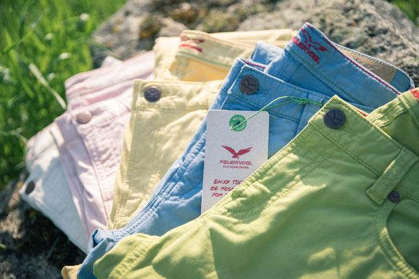 Zarte Sommerfarben für Bermuda, 7/8 und Chino auf leichter Sommerbaumwolle