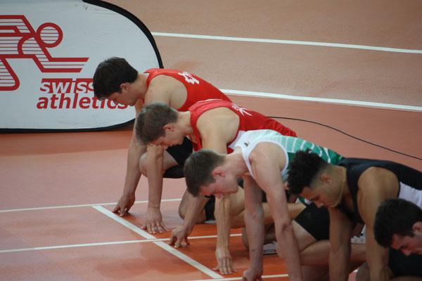 Start 60m Hürden mit Dario
