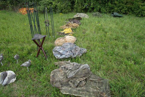 Eine grosse Auswahl an Tarnnetzen für die Jagd