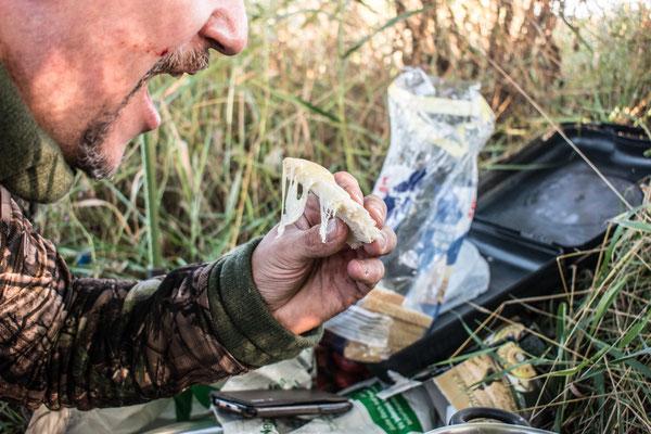 Fondue Essen auf der Jagd