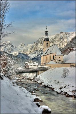 Ramsauer Kirche im Winter