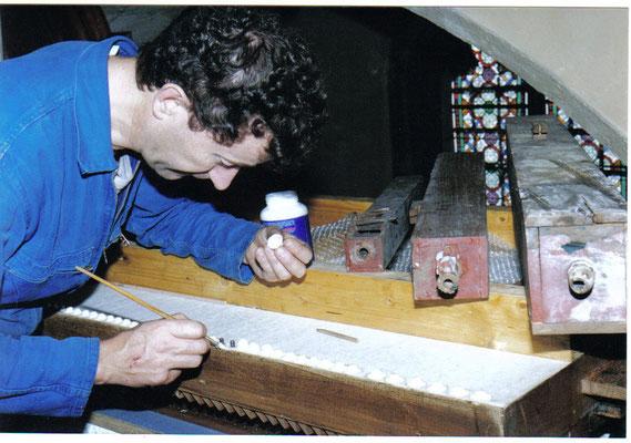 Restauration d'un sommier (Bourganeuf)