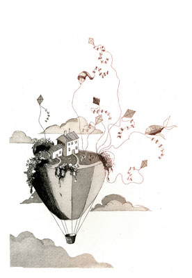 cerfs-volants petits mondes suspendus