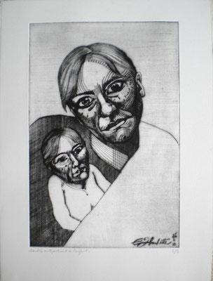 Double autoportrait à l'enfant