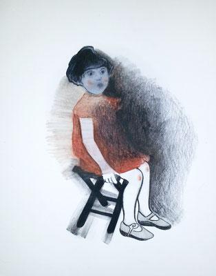 Petite fille à la chaise