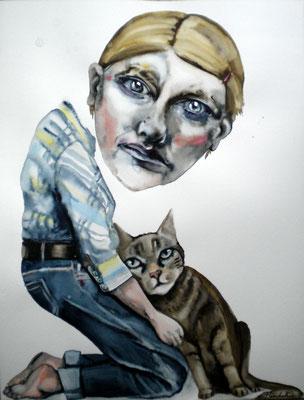 Autoportrait au chat
