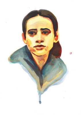 Portrait à l'encre