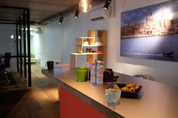 Couloir du Coworking de Montrouge