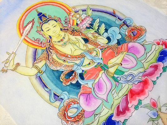 文殊菩薩(マンジュシュリ)仏画