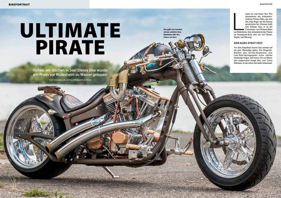 Bikers News, Pirate, Bikeportrait, Cocobreeze, Andy Kaminski, Sina F, Airbrushdesign