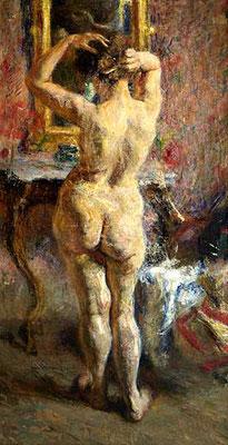 Umberto Veruda, Nudo di schiena, 1892 (Museo Revoltella)