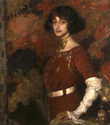 Gino Parin, Armonia in bianco e rosso, 1915