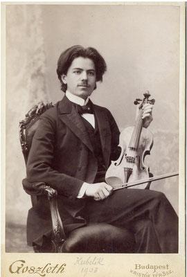 Il violinista Jan Kubelik