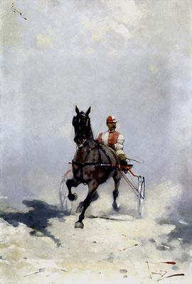 Alfredo Tominz, Corsa di cavalli