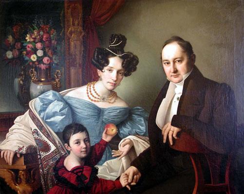 Giuseppe Tominz, La famiglia de Brucker, 1832 (Museo Revoltella)