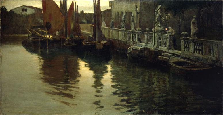 Pietro Fragiacomo, La campana della sera, 1894 (Museo Revoltella)