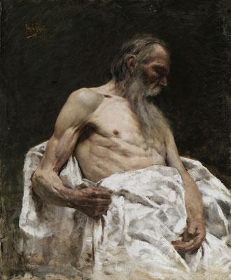Isidoro Grunhut, Studio di vecchio (Museo Revoltella)