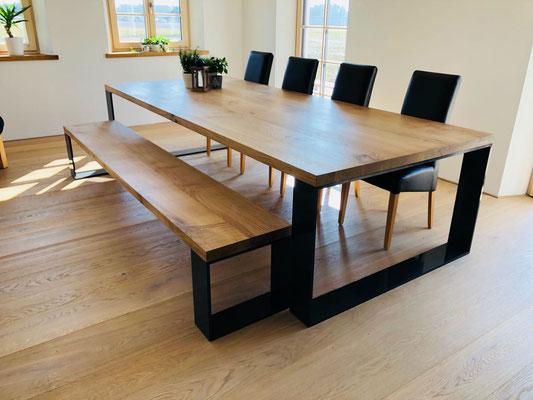 Tischplatte Eiche 300x125cm stärke 50mm