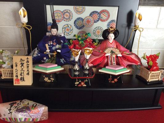 加賀友禅、九谷焼、山中塗、加賀の伝統工芸だらけの雛人形
