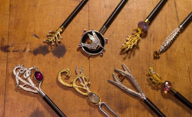 Bild: Haarnadeln aus Ossa Sepia Guss