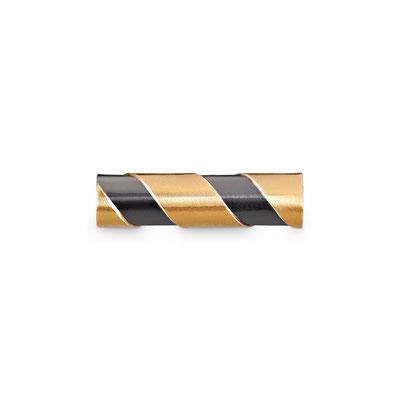 Bild: Handgearbeitete 925er Sterlingsilbermanschettenknopf Stäbchen rund und gedreht mit aufgelötetem Gold
